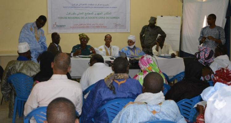 Kaédi : Forum régional de la Société civile